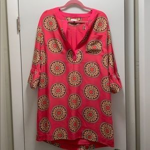 Crown and Ivy dress size 16 pink and orange